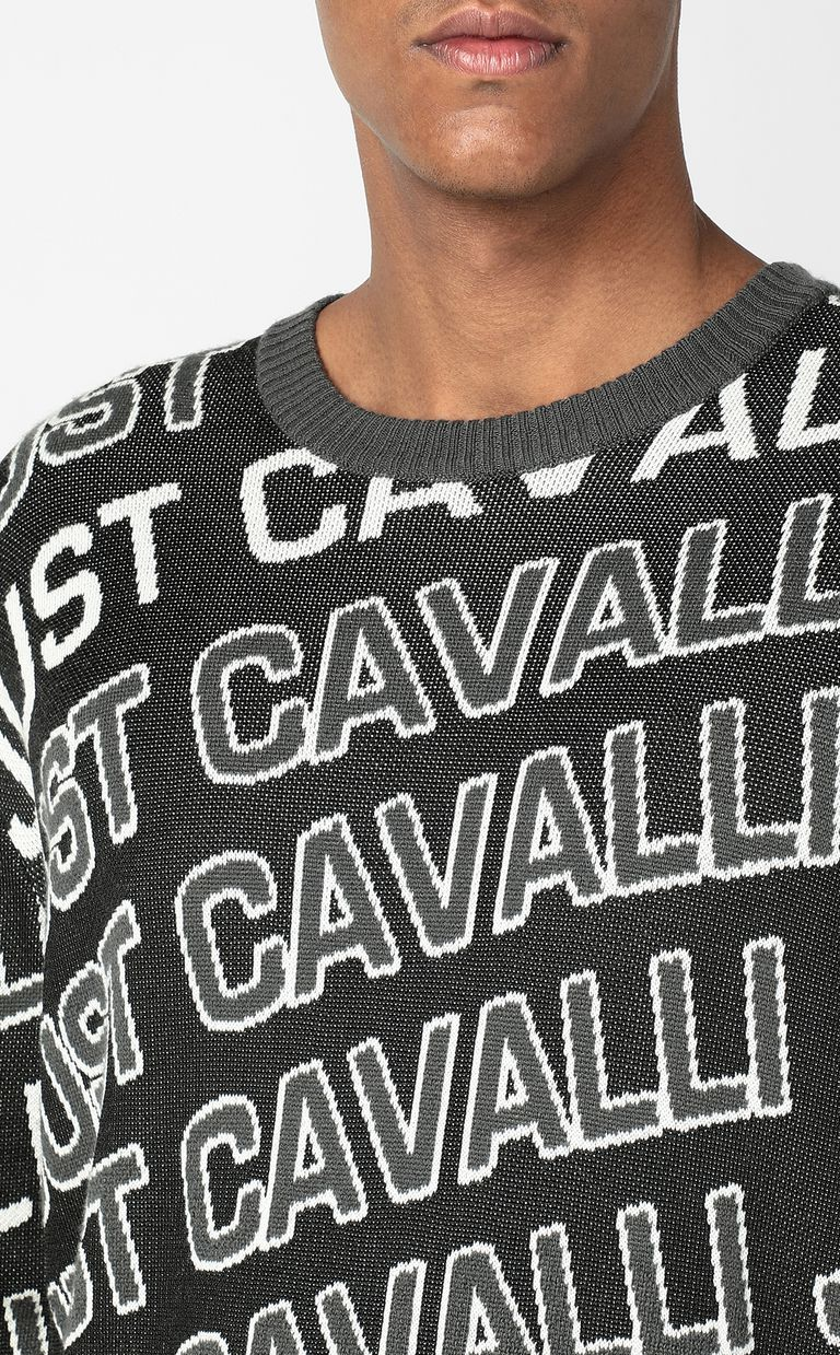 JUST CAVALLI Pullover with logo Crewneck sweater Man e