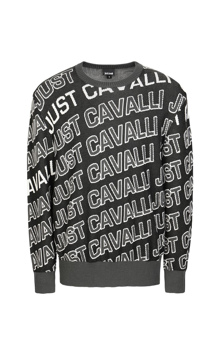 JUST CAVALLI Pullover with logo Crewneck sweater Man f