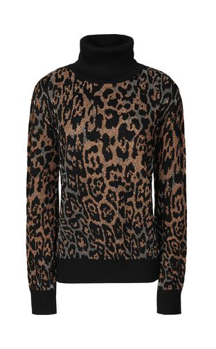 JUST CAVALLI Sweater Woman Pullover with Macro-Leo pattern f