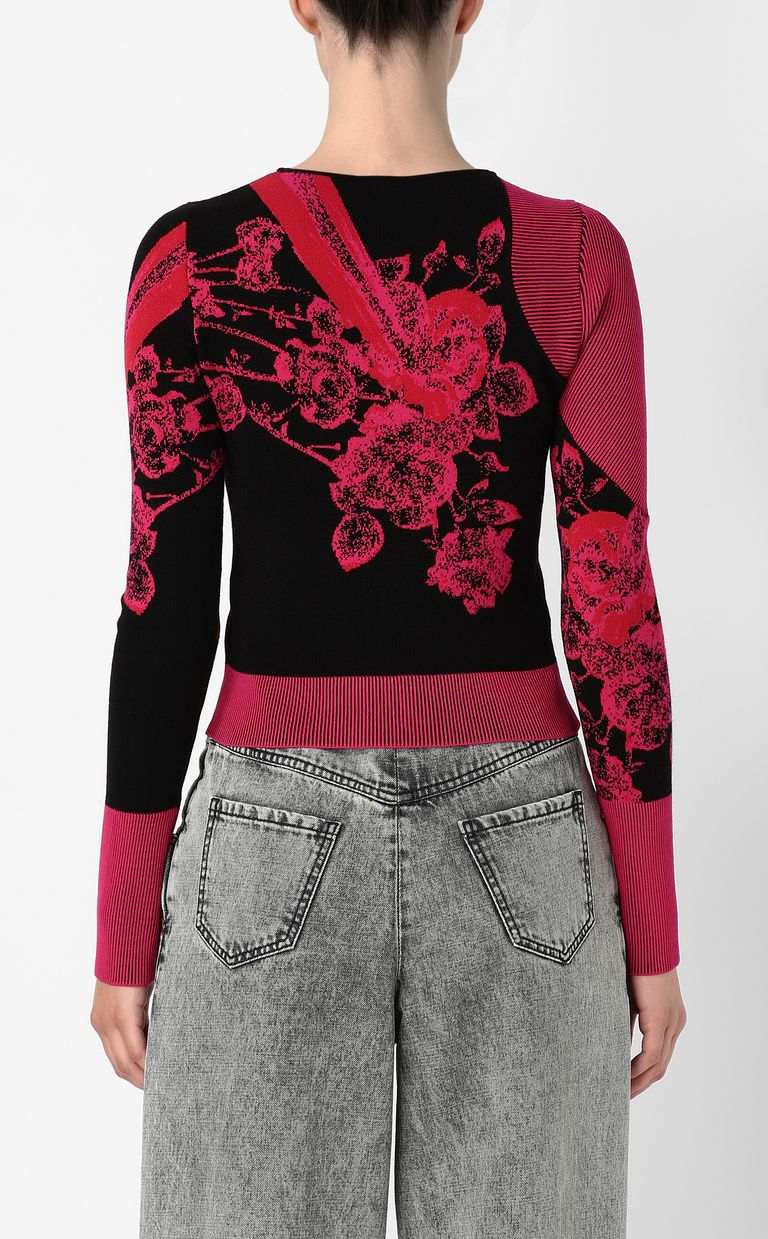 JUST CAVALLI Moving-Roses-print pullover Sweater Woman a