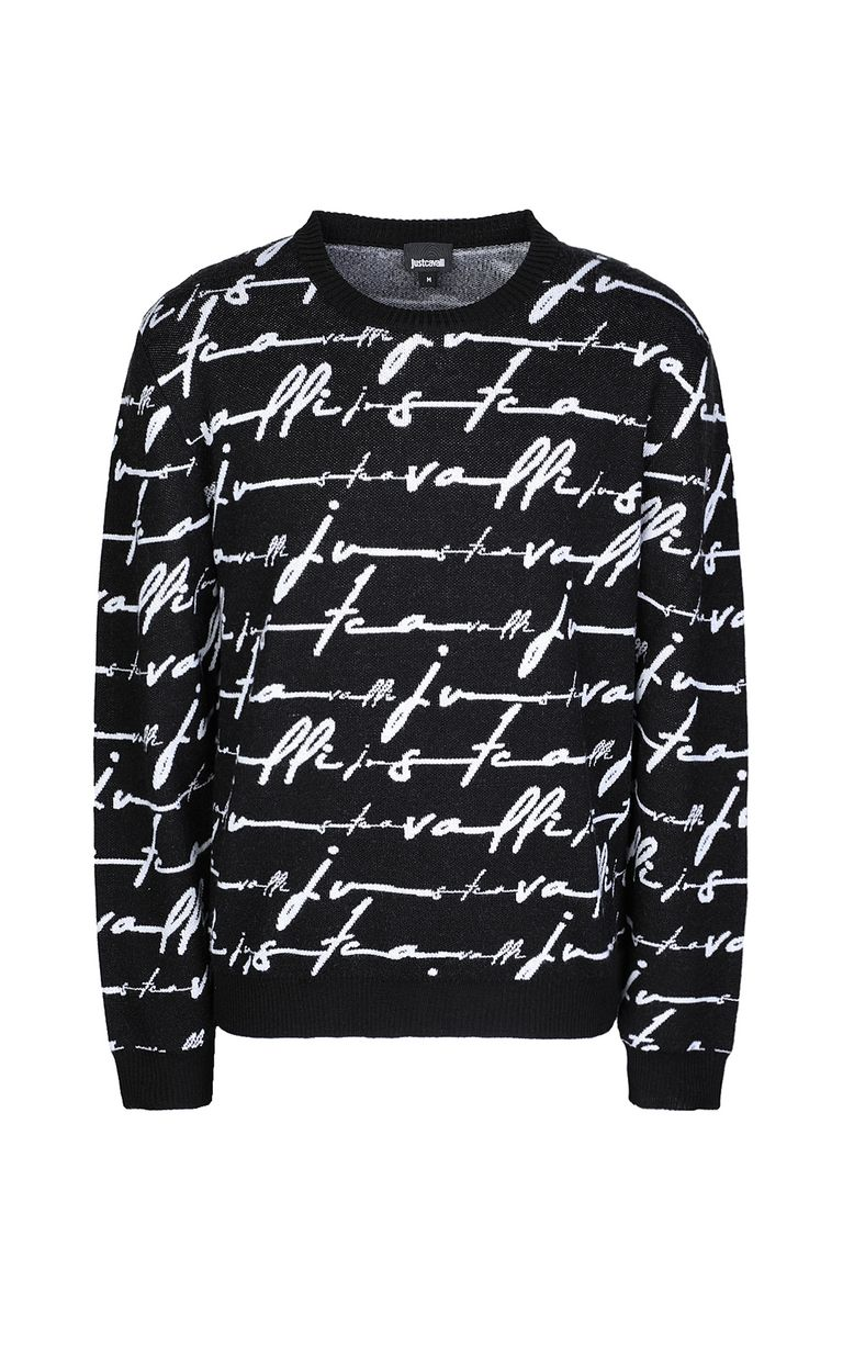 JUST CAVALLI Just-Cavalli-Signature pullover Long sleeve sweater Man f