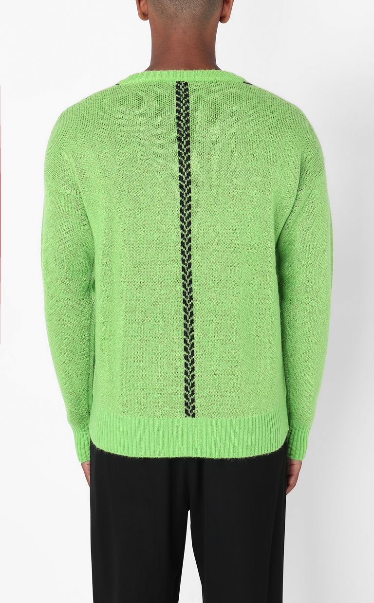 JUST CAVALLI Pullover with logo V-neck Man a