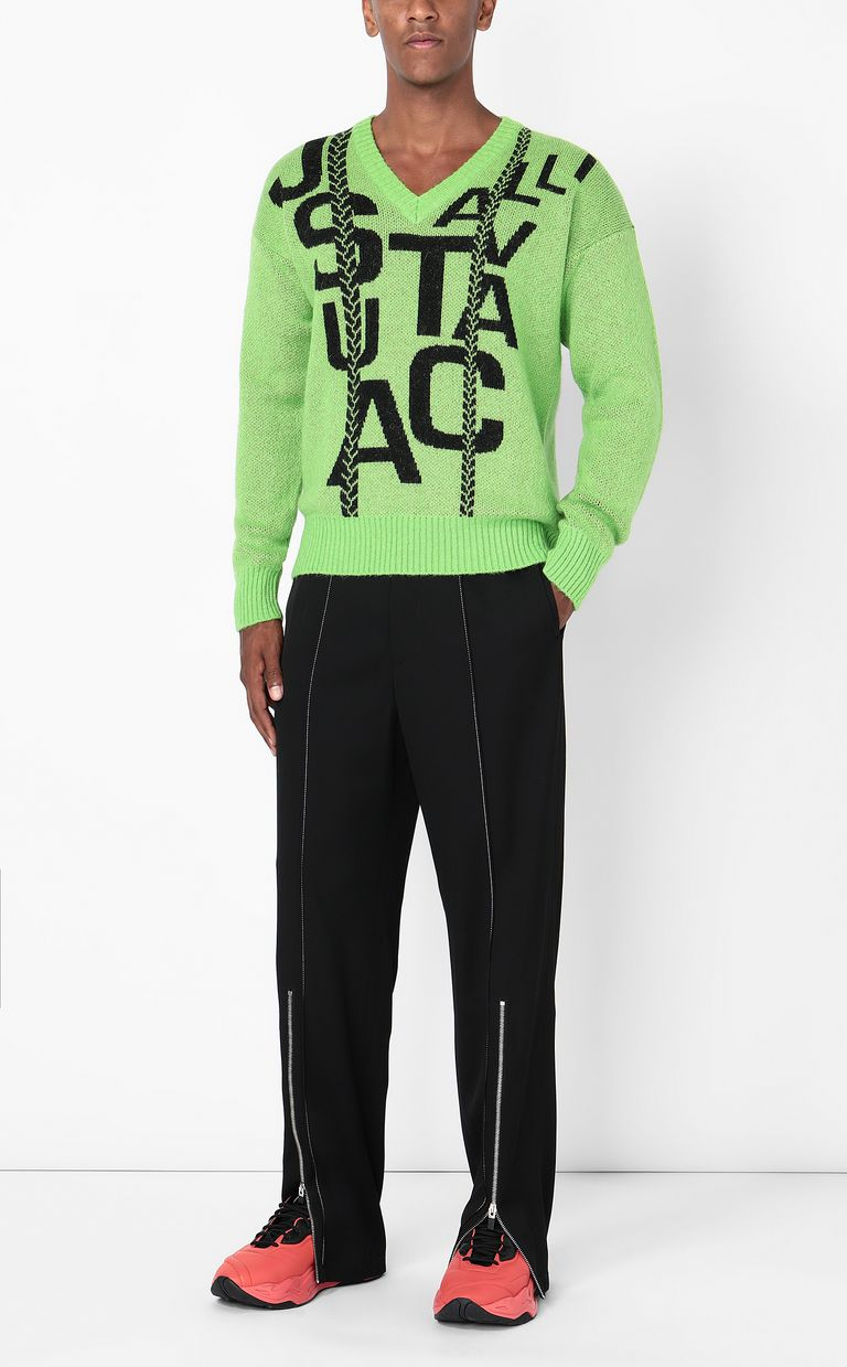 JUST CAVALLI Pullover with logo V-neck Man d