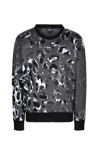 JUST CAVALLI High neck sweater Man Sweater with Dancing-Leo motif f