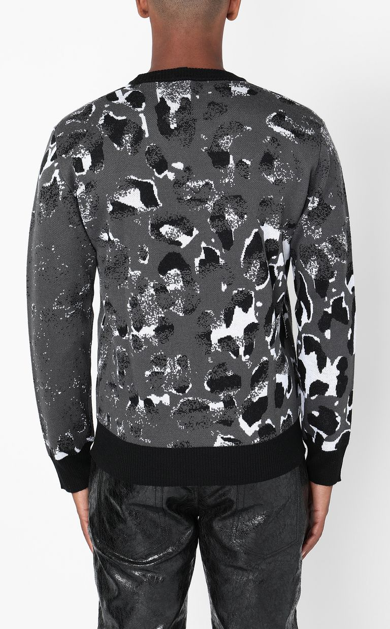 JUST CAVALLI Pullover with Strange-Leo pattern Long sleeve sweater Man a