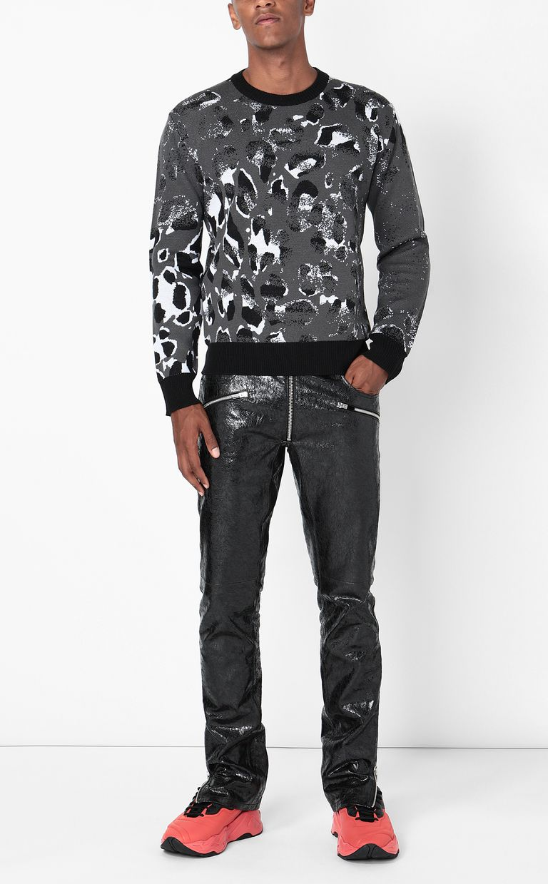 JUST CAVALLI Pullover with Strange-Leo pattern Long sleeve sweater Man d