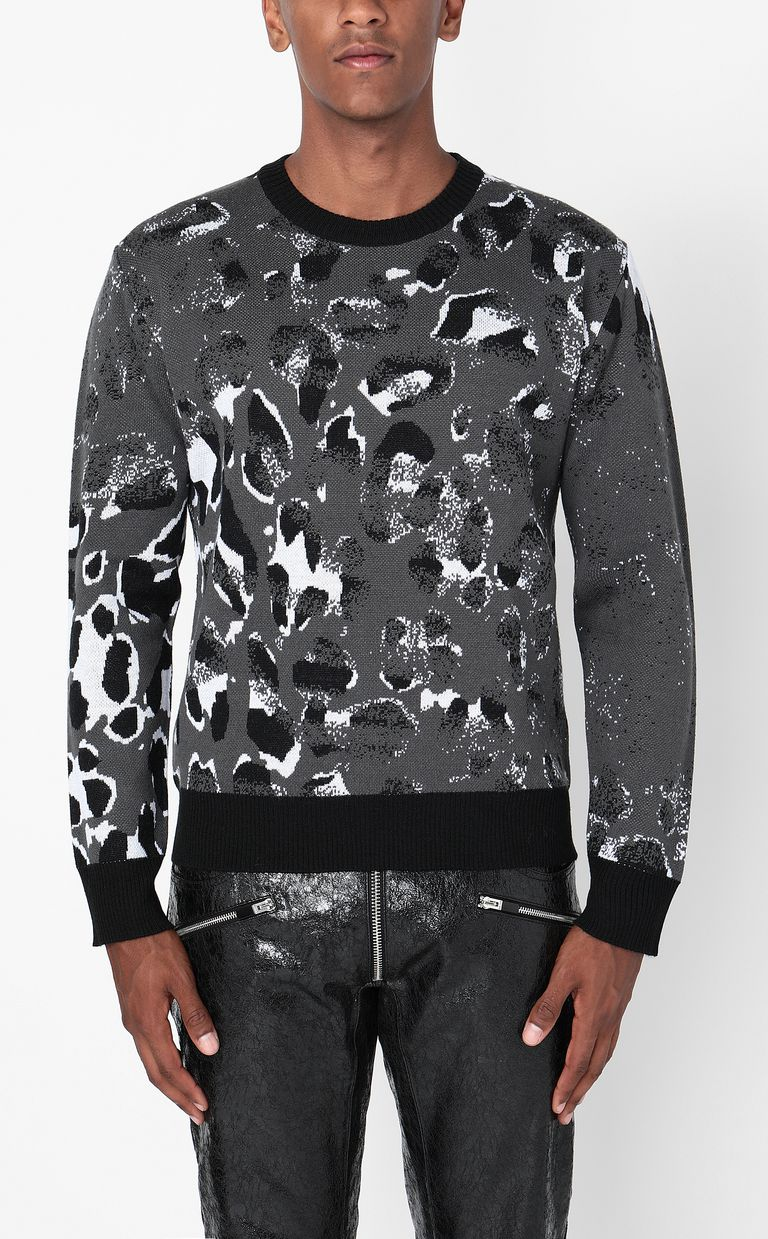 JUST CAVALLI Pullover with Strange-Leo pattern Long sleeve sweater Man r