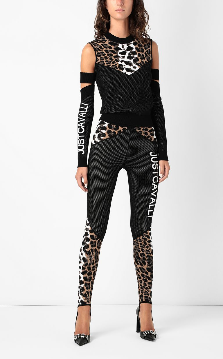 JUST CAVALLI Top with animal patterning Sweater Woman d