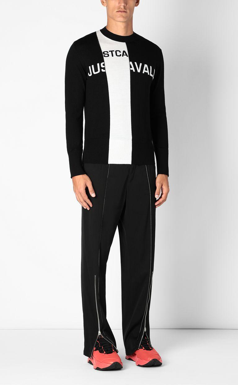 JUST CAVALLI Pullover with logo Crewneck sweater Man d