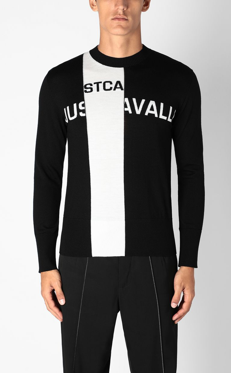JUST CAVALLI Pullover with logo Crewneck sweater Man r