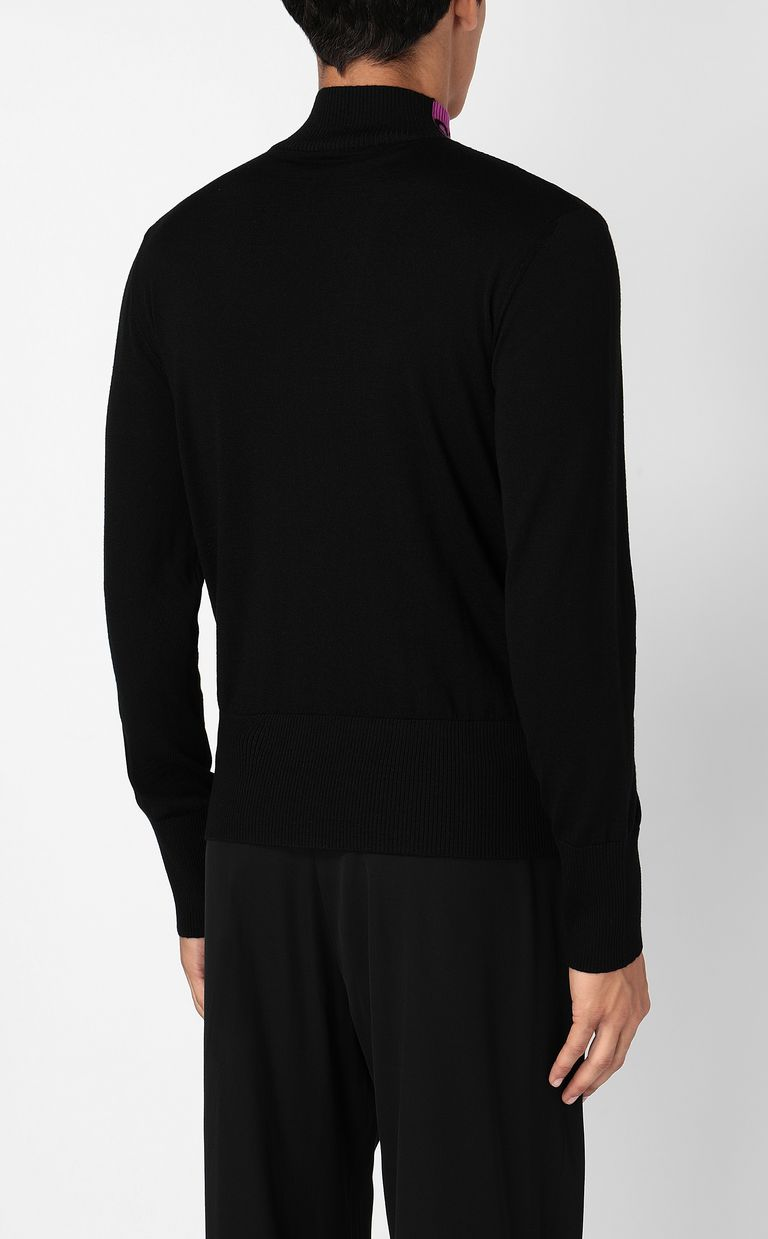 JUST CAVALLI High-neck pullover with logo High neck sweater Man a