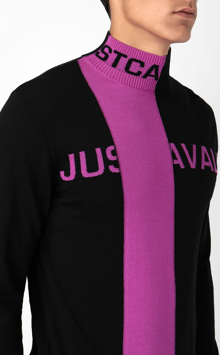 JUST CAVALLI High-neck pullover with logo High neck sweater Man e