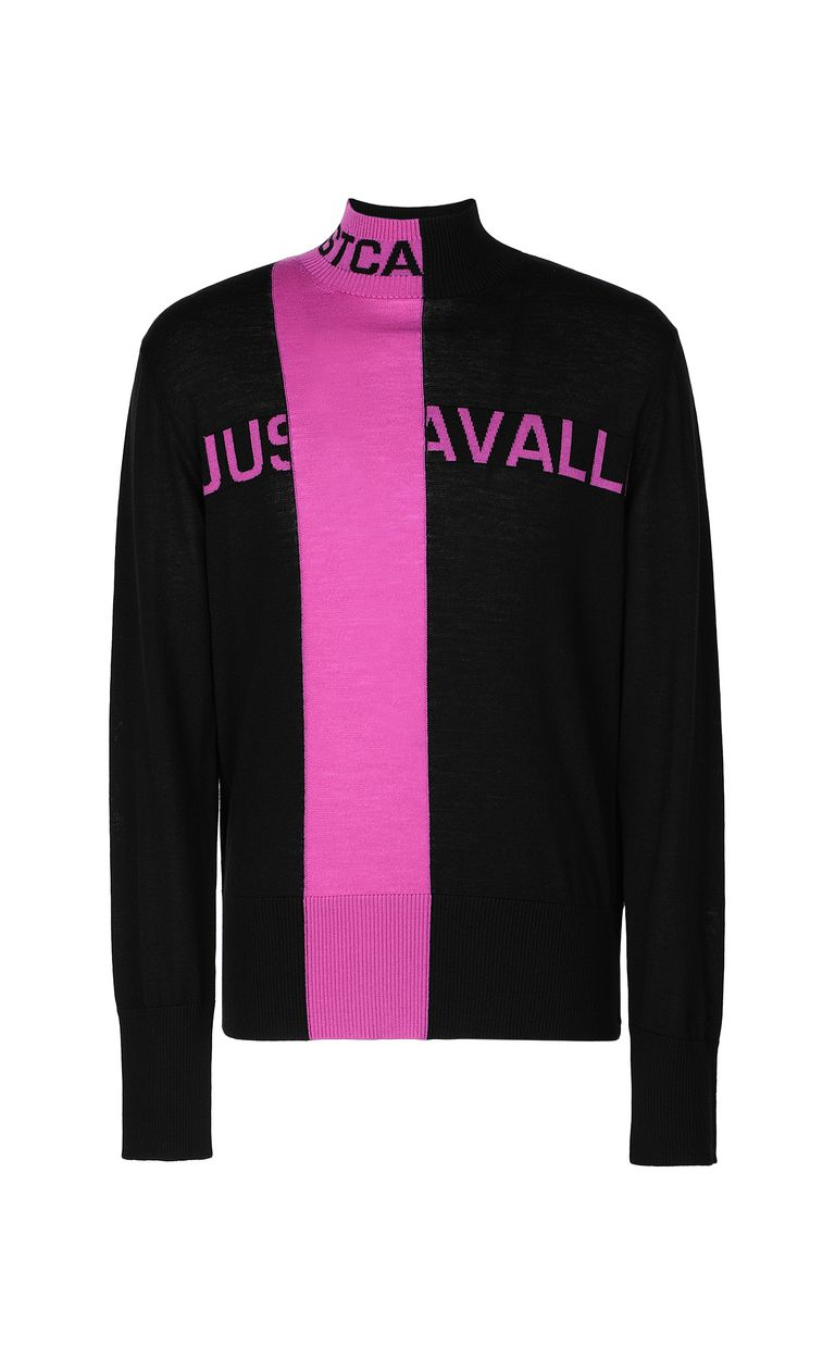JUST CAVALLI High-neck pullover with logo High neck sweater Man f