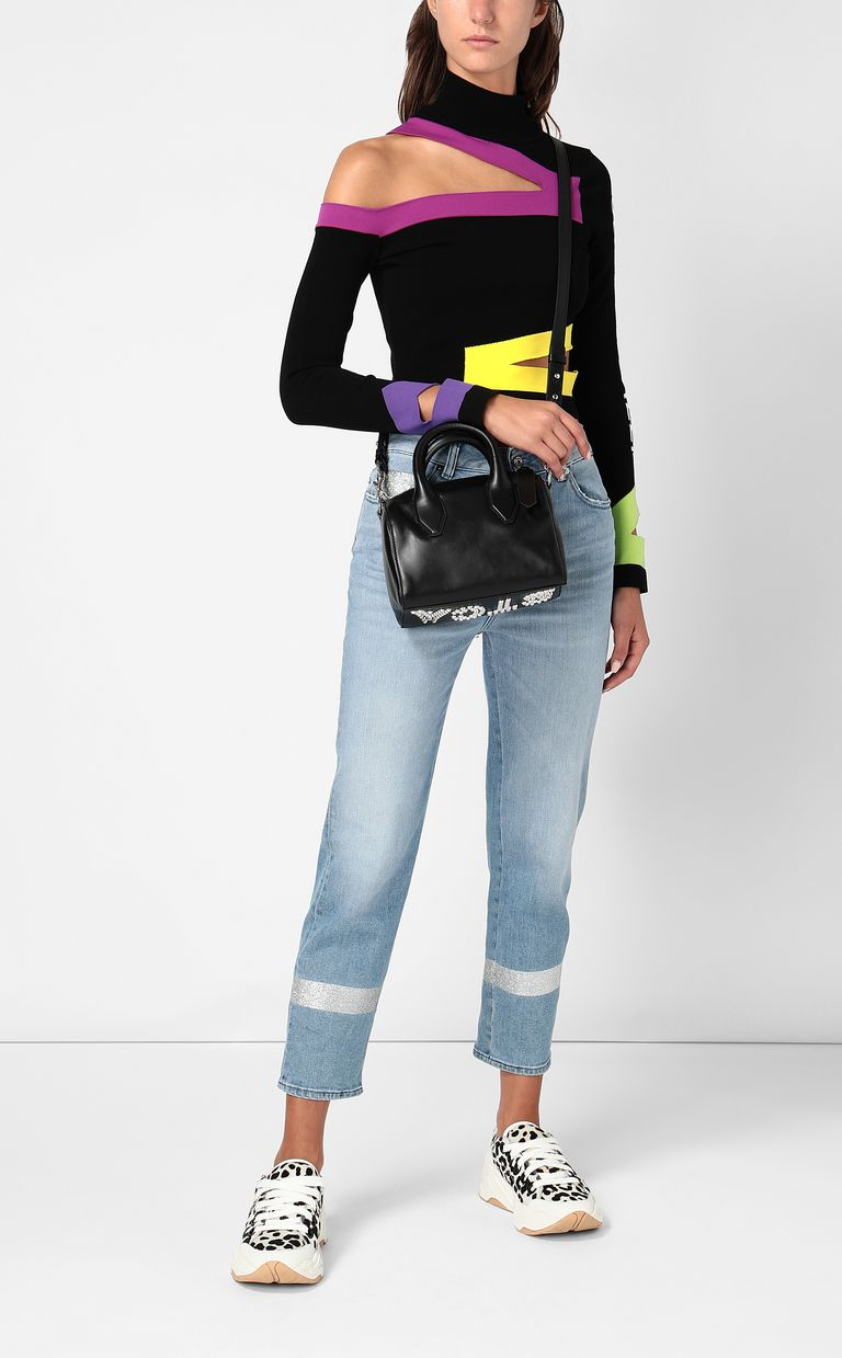 JUST CAVALLI Top with cut-out detailing High neck sweater Woman d