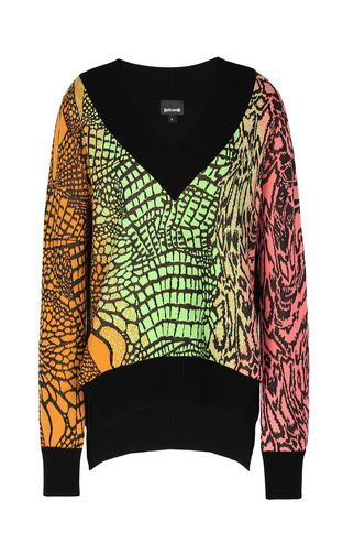 JUST CAVALLI Sweater Woman Top with animal patterning f