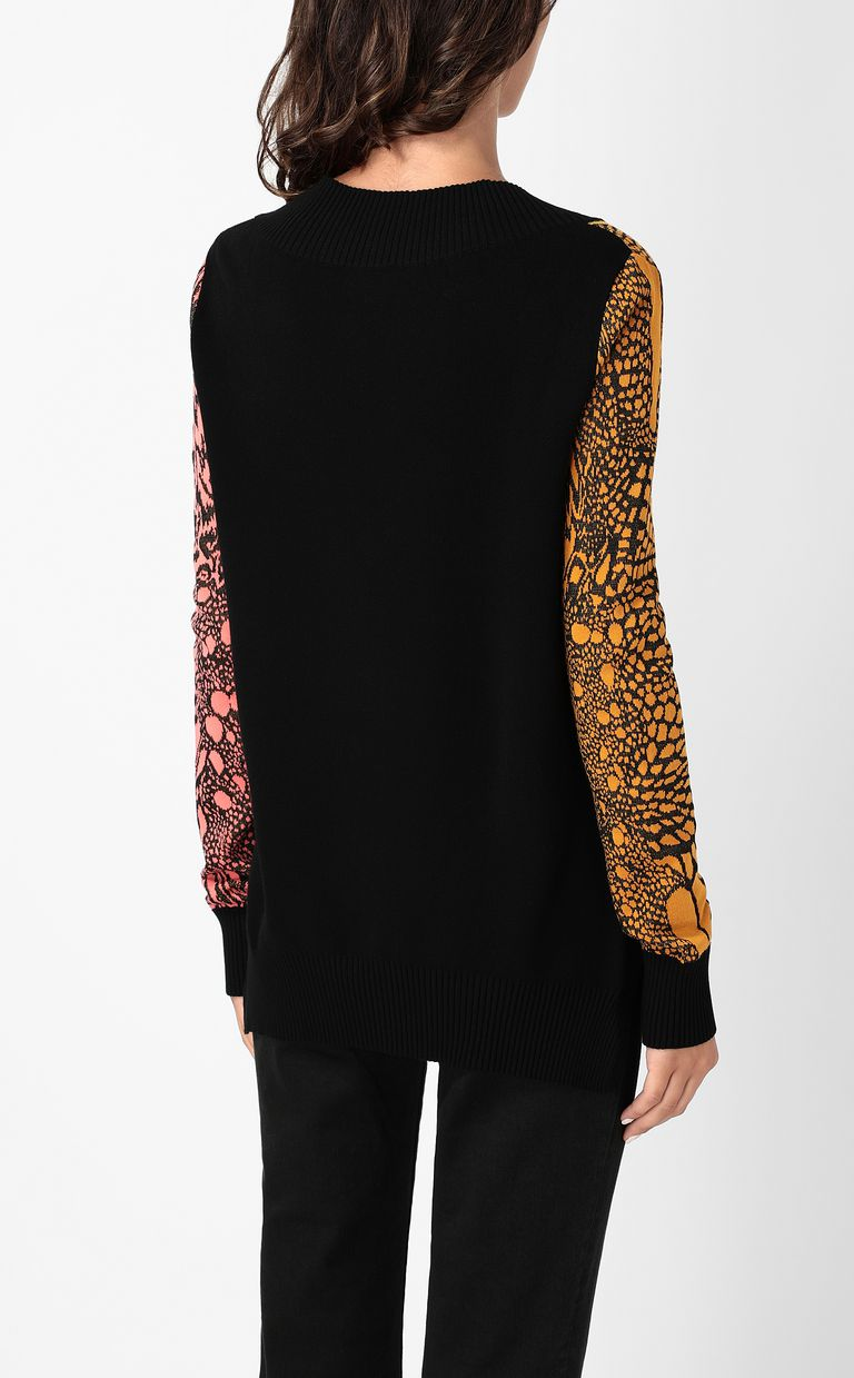 JUST CAVALLI Top with Reptilia pattern V-neck Woman a
