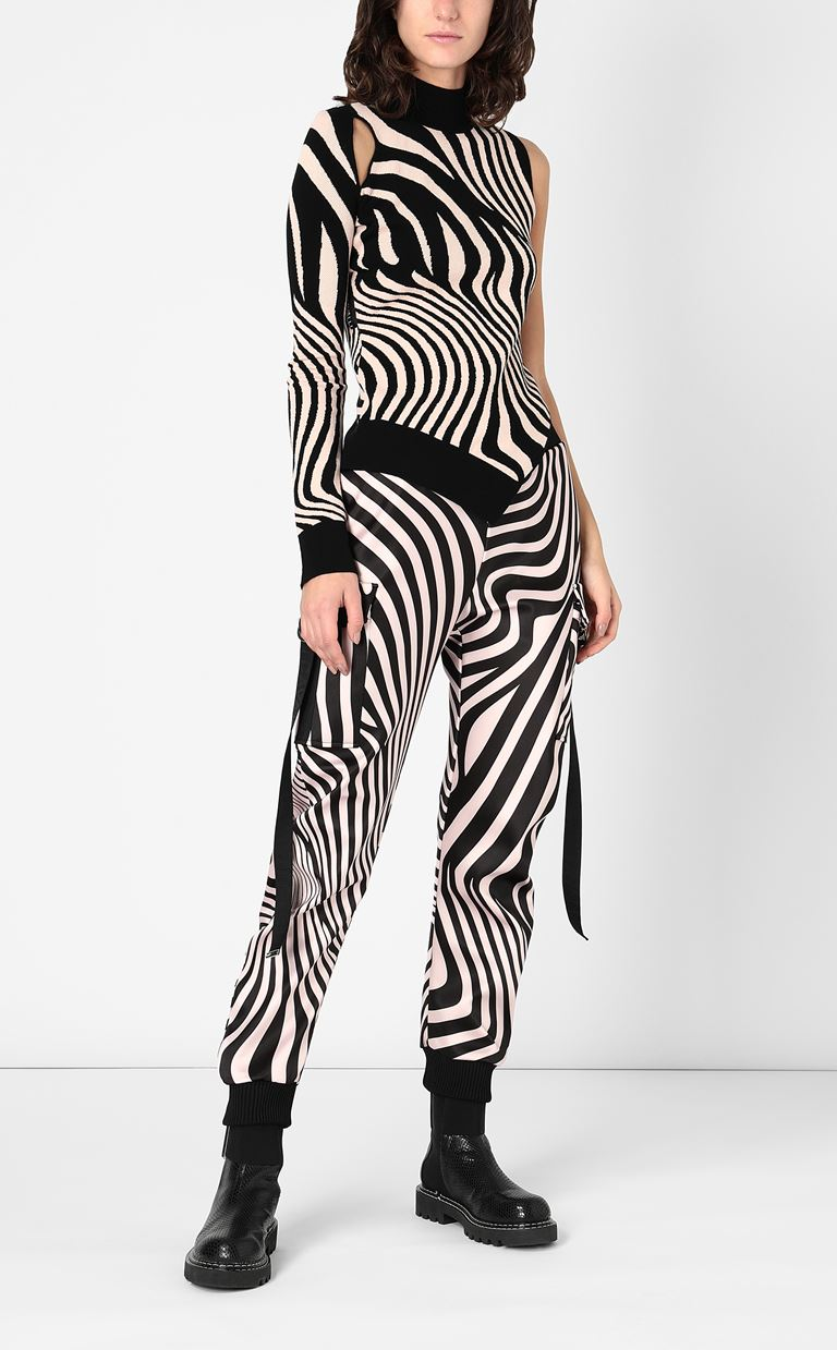 JUST CAVALLI High-neck zebra-stripe top High neck sweater Woman d