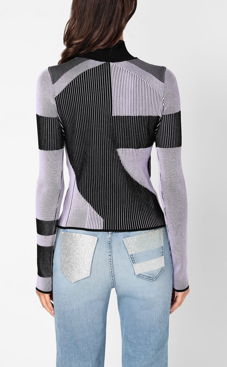 JUST CAVALLI Top with geometrical patterning High neck sweater Woman a