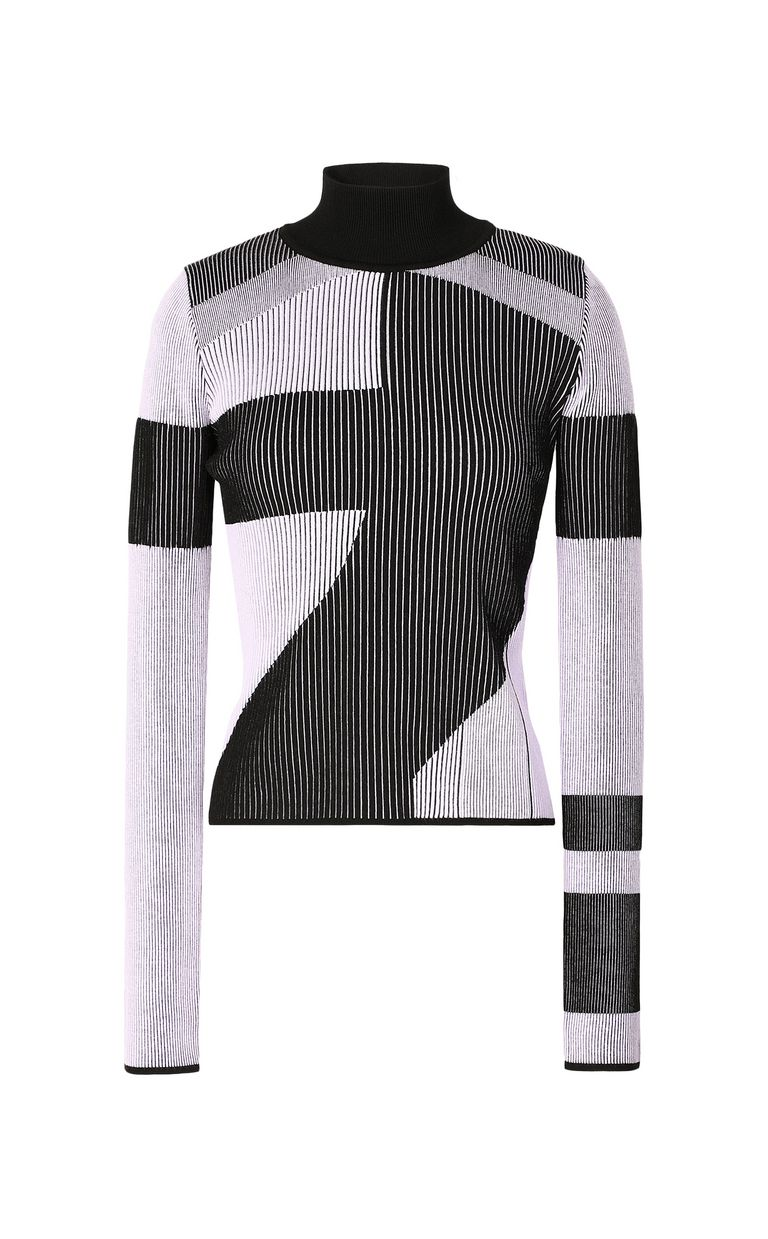 JUST CAVALLI Top with geometrical patterning High neck sweater Woman f