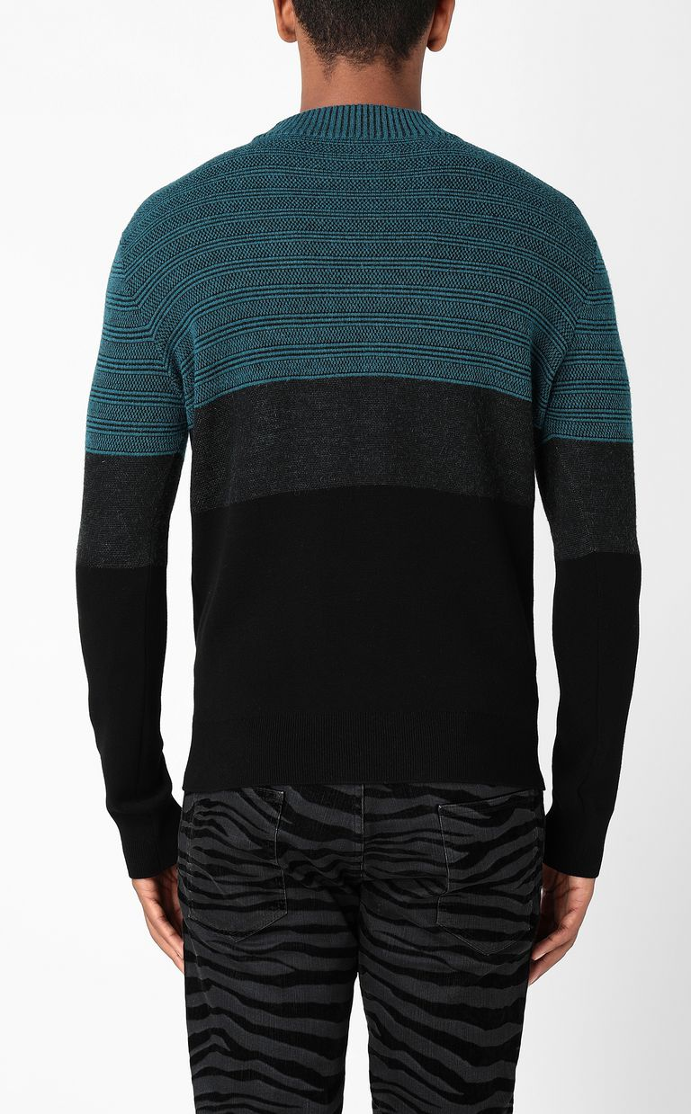 JUST CAVALLI Pullover with logo Long sleeve sweater Man a