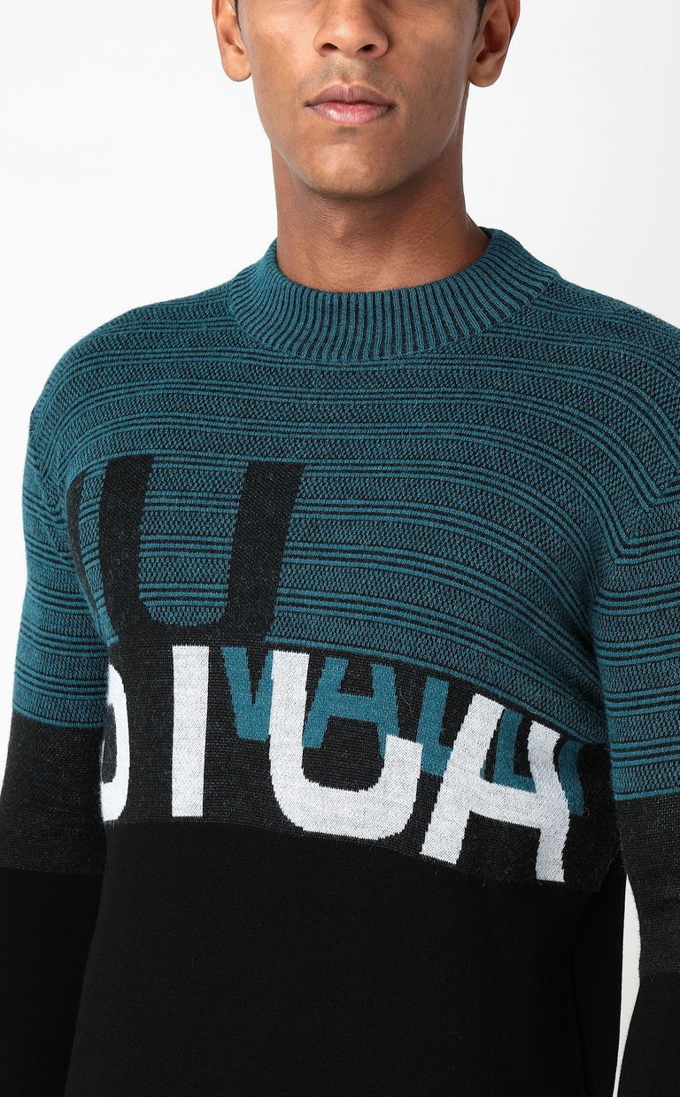 JUST CAVALLI Pullover with logo Long sleeve sweater Man e