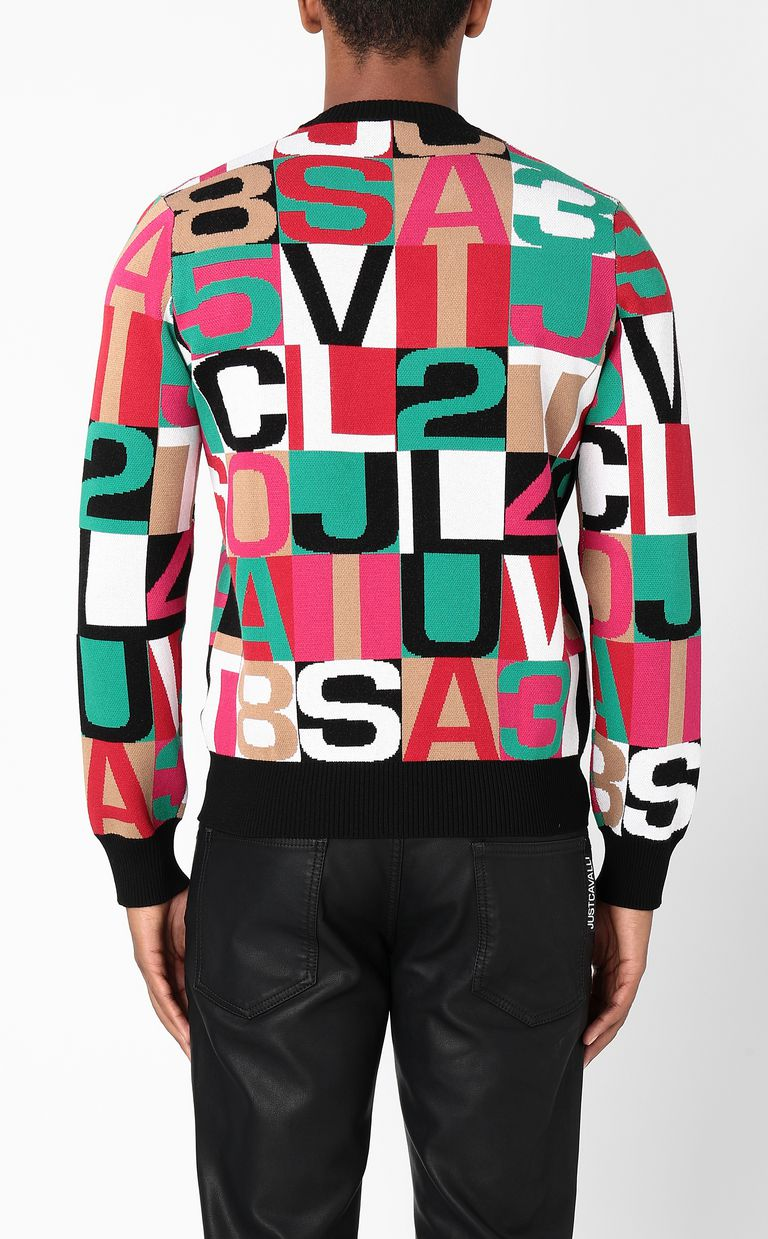 JUST CAVALLI Pullover with lettering Long sleeve sweater Man a