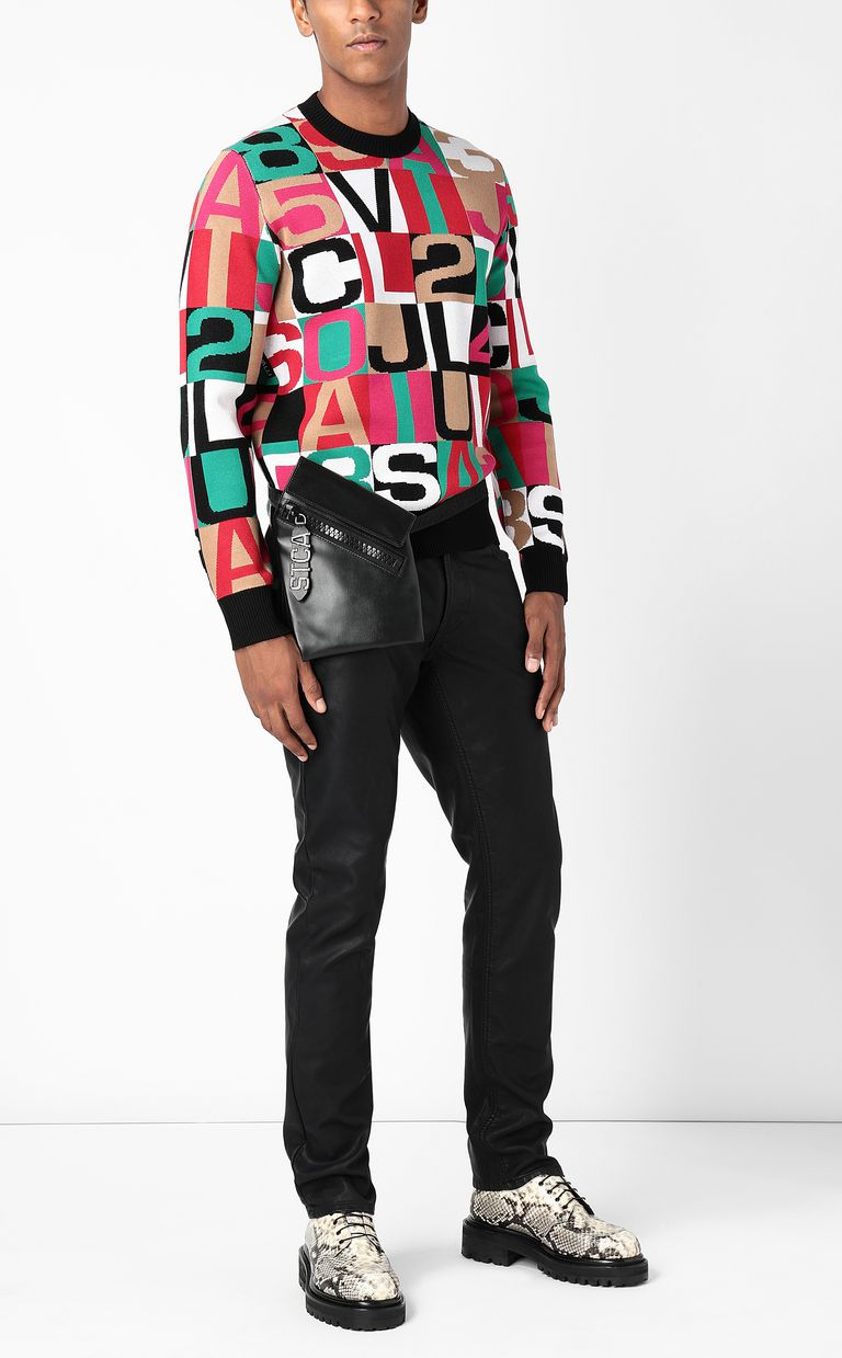 JUST CAVALLI Pullover with lettering Long sleeve sweater Man d