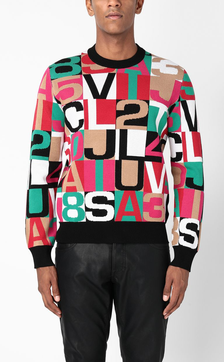 JUST CAVALLI Pullover with lettering Long sleeve sweater Man r