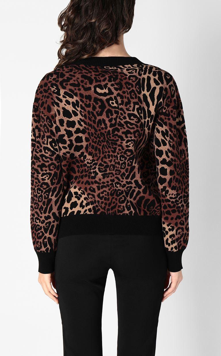 JUST CAVALLI Leopard-spot cardigan Cardigan Woman a