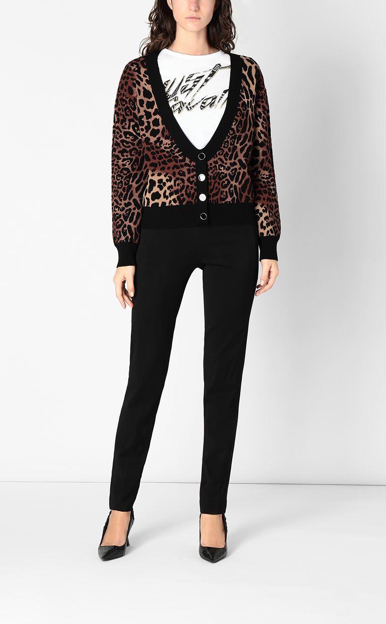 JUST CAVALLI Leopard-spot cardigan Cardigan Woman d