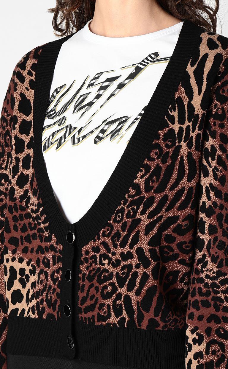 JUST CAVALLI Leopard-spot cardigan Cardigan Woman e
