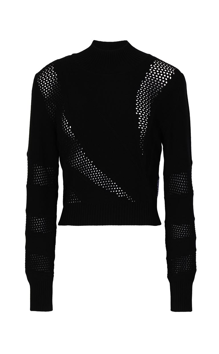 JUST CAVALLI Tricot-knit pullover High neck sweater Woman f