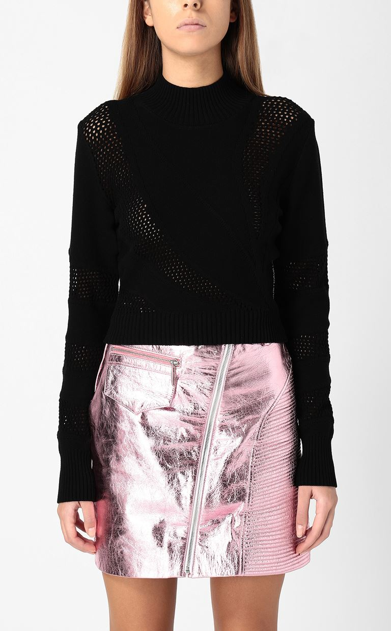 JUST CAVALLI Tricot-knit pullover High neck sweater Woman r