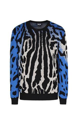 JUST CAVALLI Cardigan Man Jacquard-leopard cardigan f