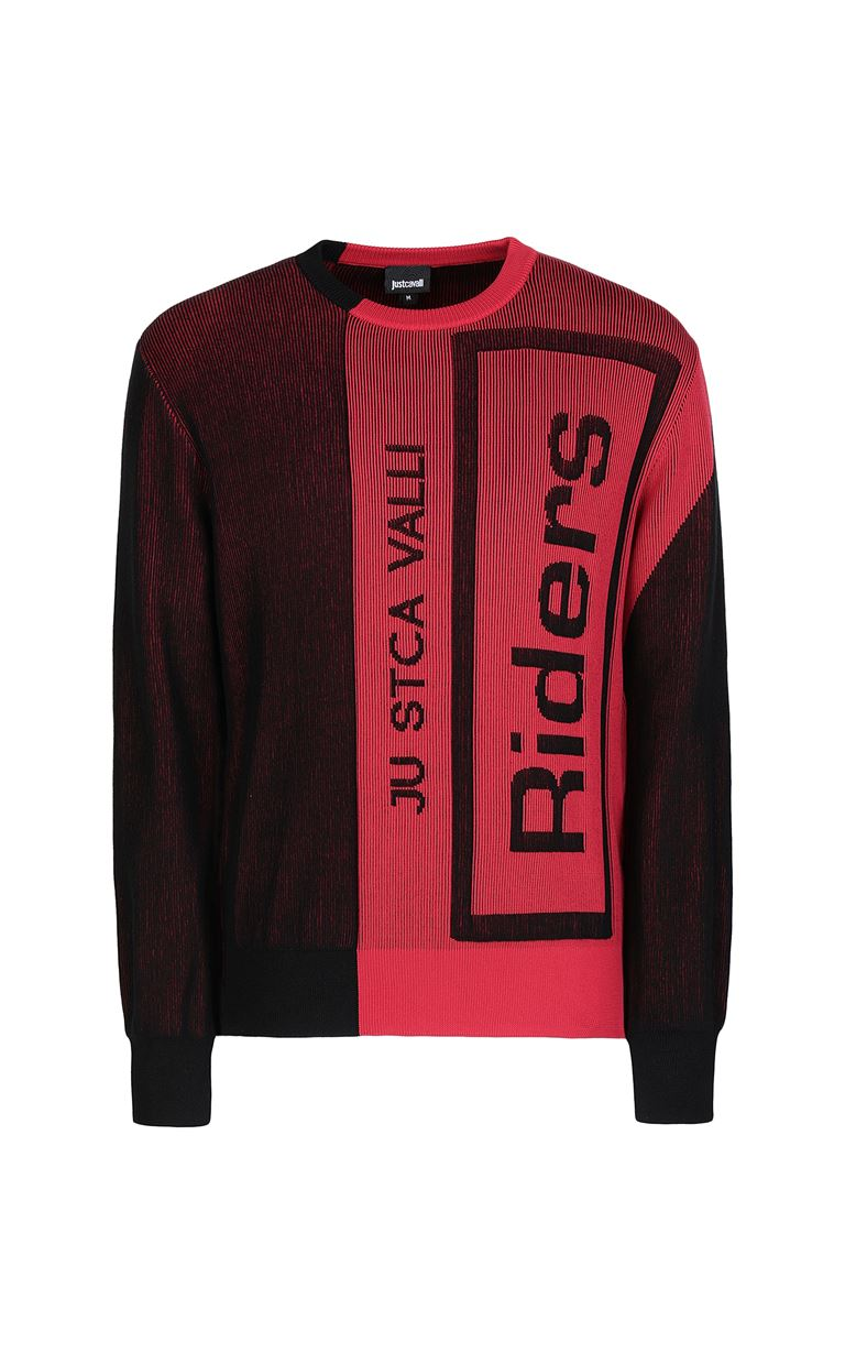 JUST CAVALLI Pullover with logo Long sleeve sweater Man f