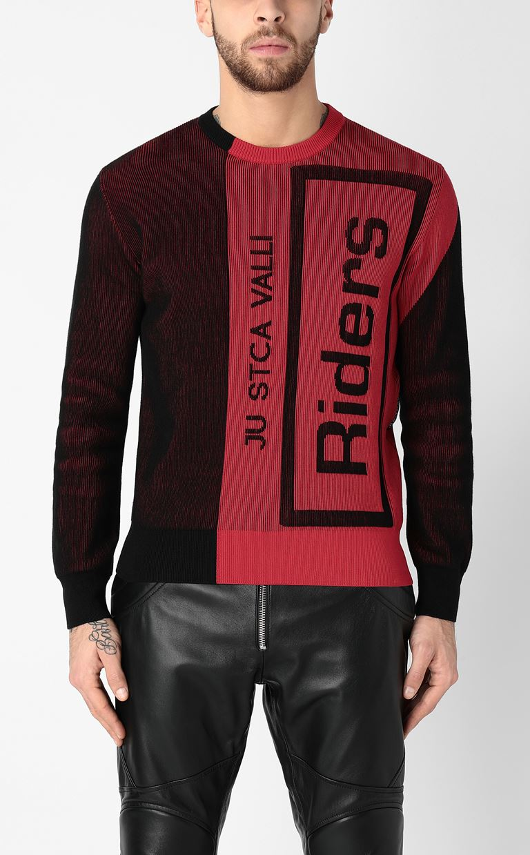 JUST CAVALLI Pullover with logo Long sleeve sweater Man r