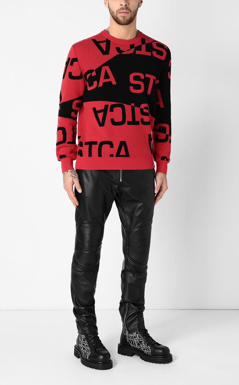 JUST CAVALLI Pullover with logo Long sleeve sweater Man d