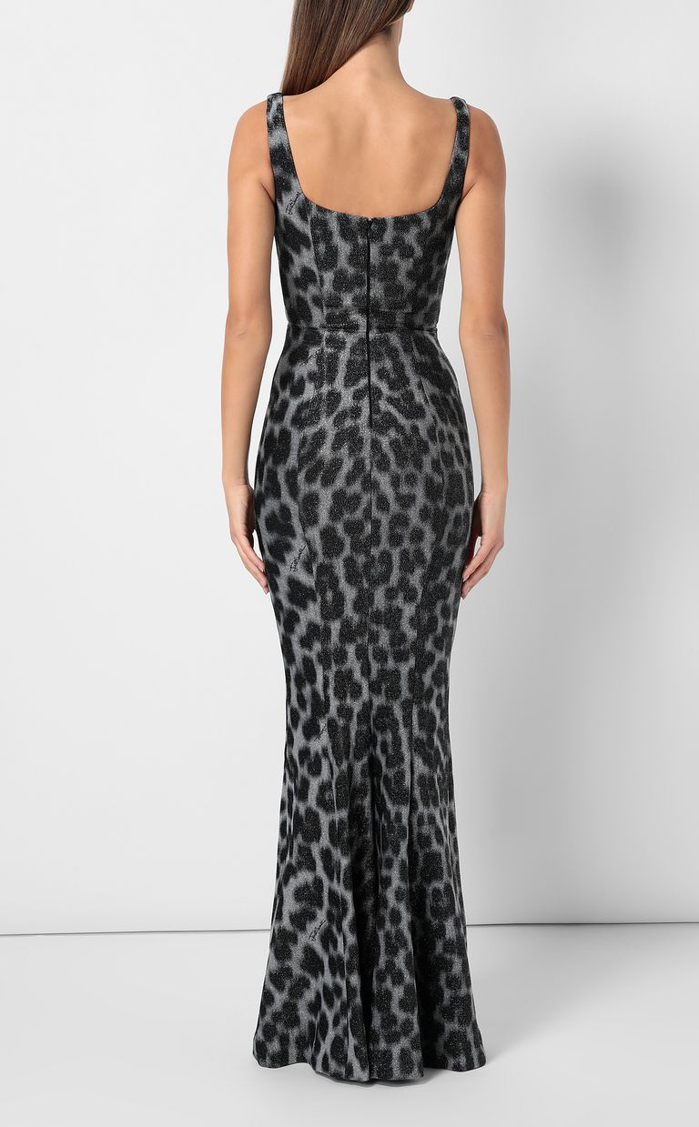 JUST CAVALLI Leopard-spot mermaid gown Long dress Woman a
