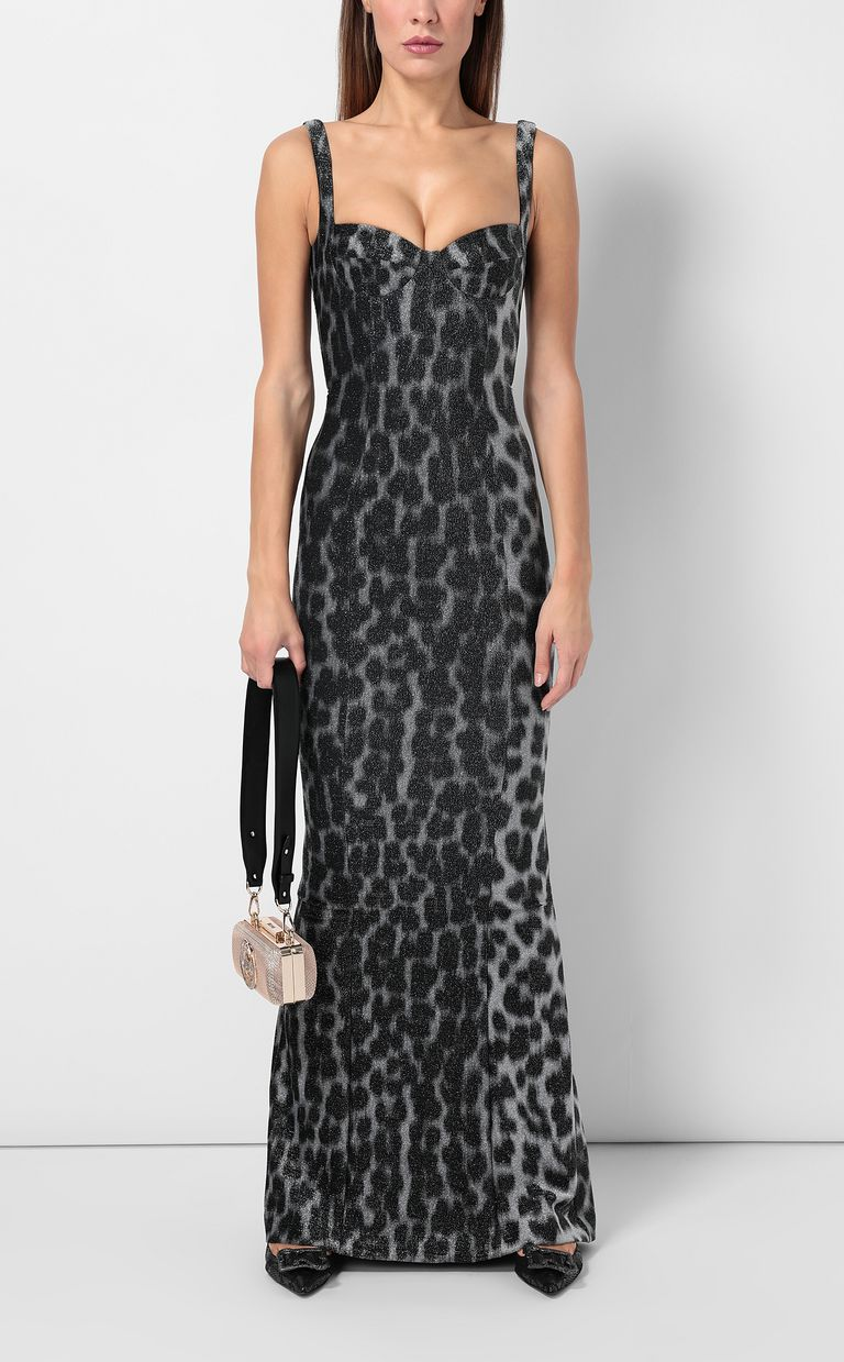 JUST CAVALLI Leopard-spot mermaid gown Long dress Woman d