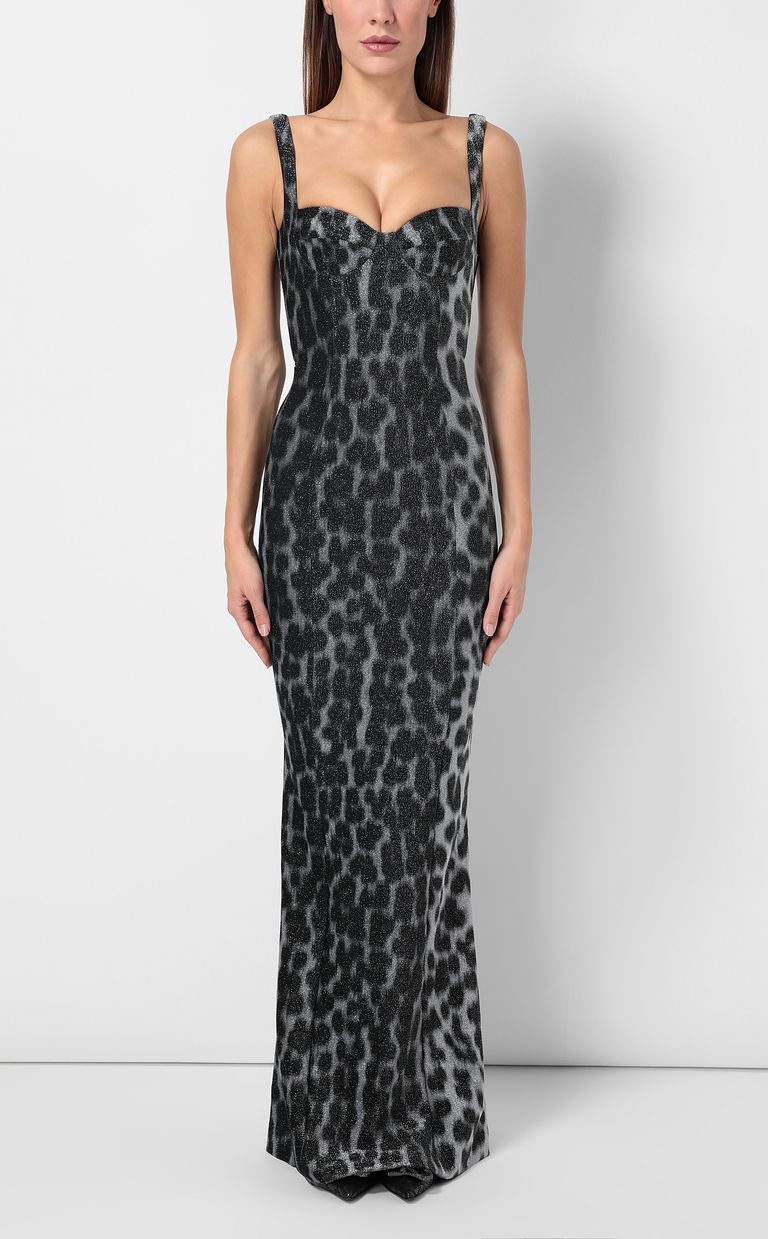 JUST CAVALLI Leopard-spot mermaid gown Long dress Woman r