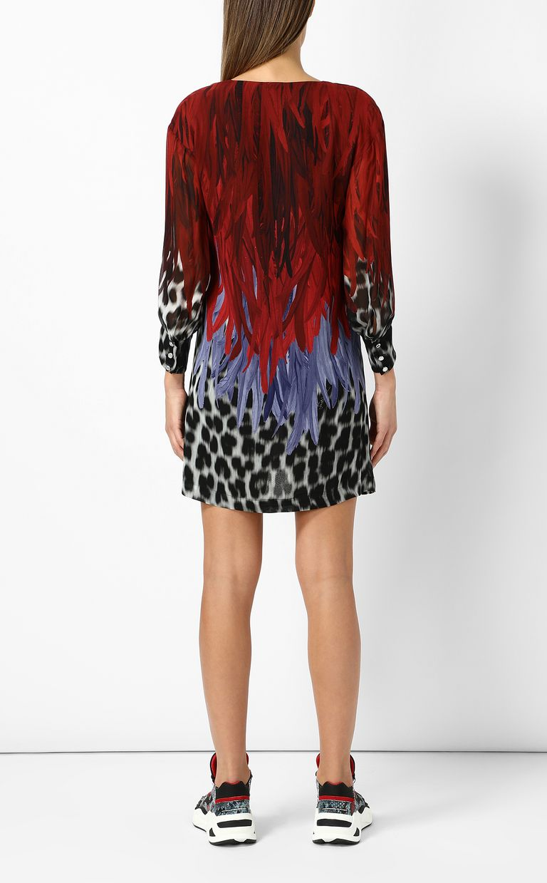 JUST CAVALLI Phoenix-and-leopard print dress Dress Woman a