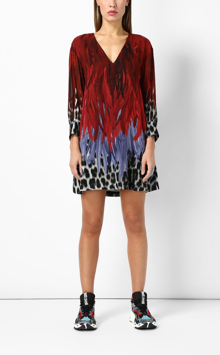 JUST CAVALLI Phoenix-and-leopard print dress Dress Woman d