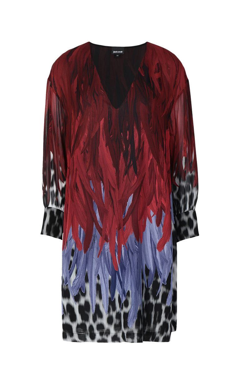 JUST CAVALLI Phoenix-and-leopard print dress Dress Woman f