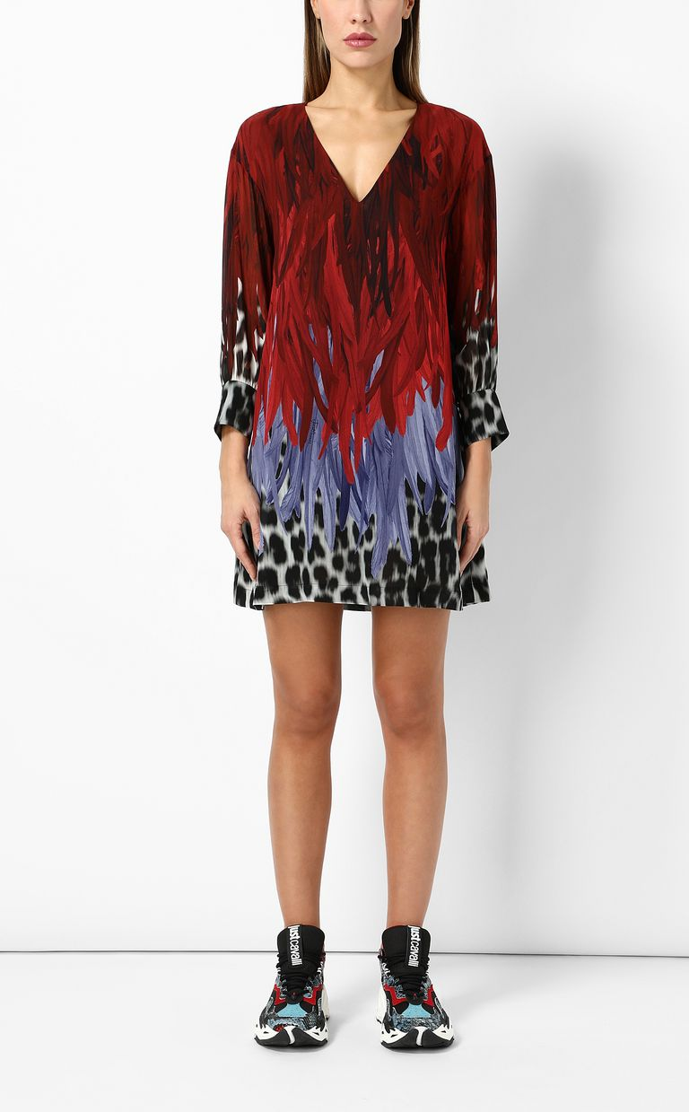JUST CAVALLI Phoenix-and-leopard print dress Dress Woman r