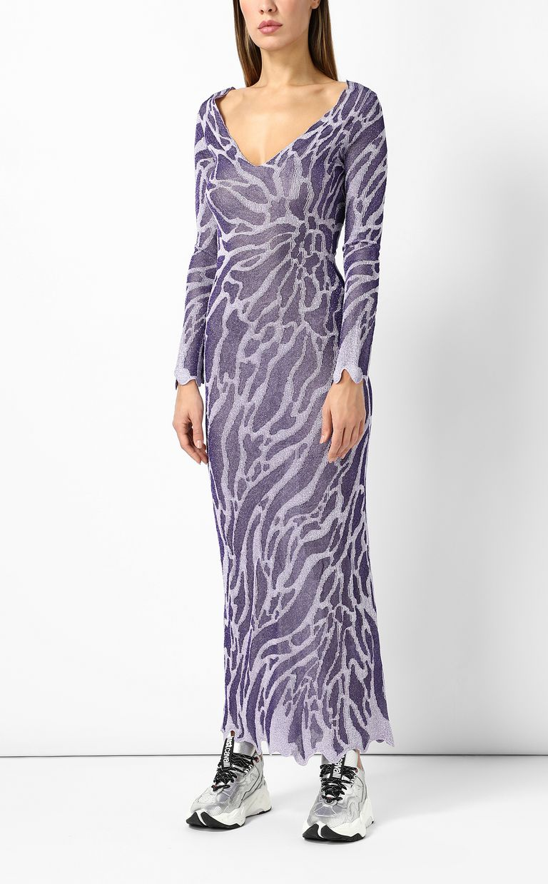 JUST CAVALLI Full-length zebra-stripe dress Long dress Woman d