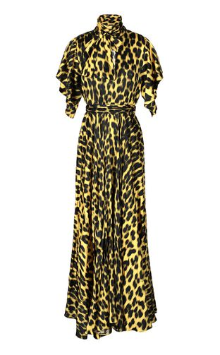 Leopard-print long dress