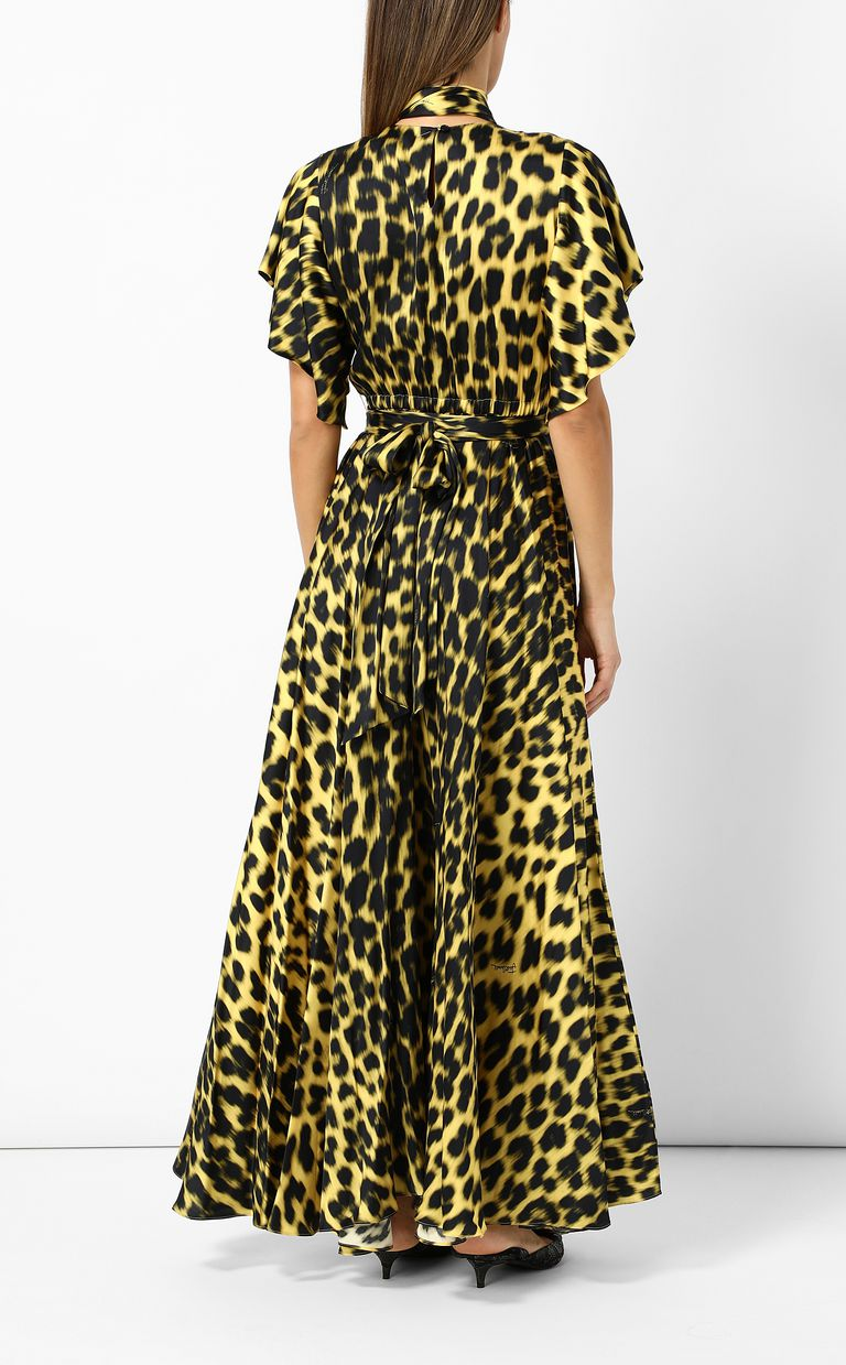 JUST CAVALLI Leopard-print long dress Long dress Woman a