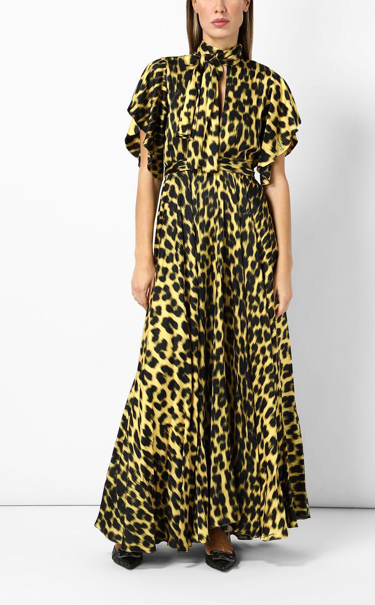 JUST CAVALLI Leopard-print long dress Long dress Woman d