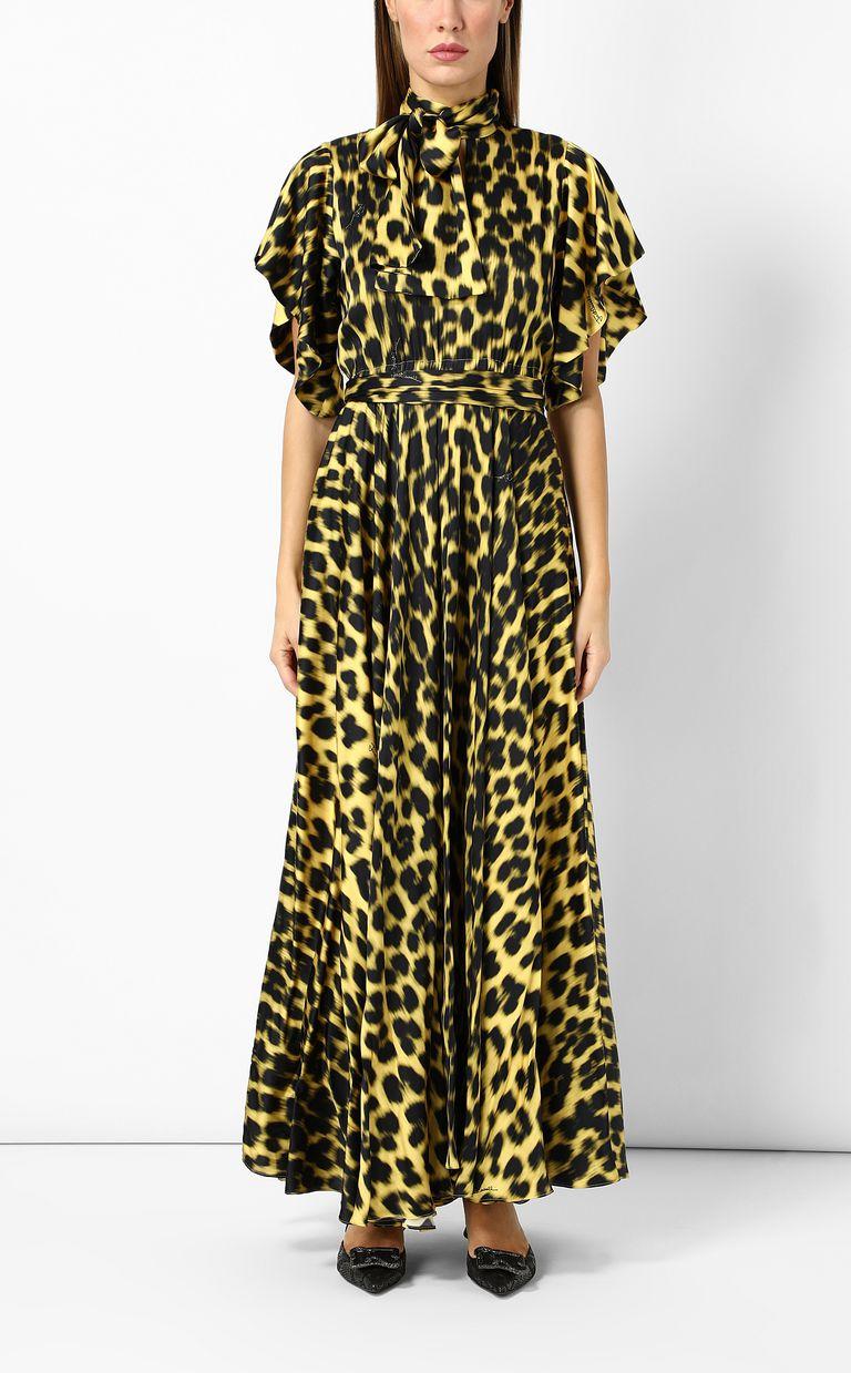 JUST CAVALLI Leopard-print long dress Long dress Woman r