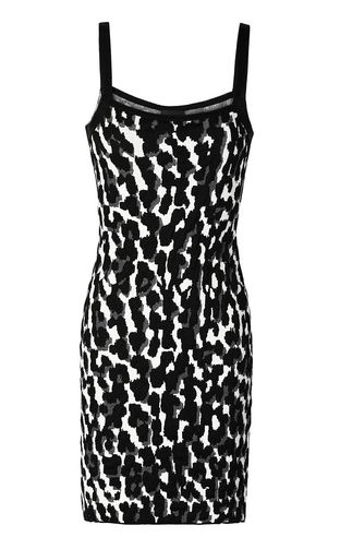 Short leopard-spot-print dress